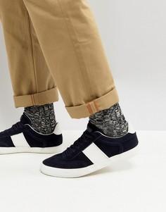 Замшевые кроссовки Kurt Geiger London Alverez - Темно-синий