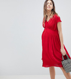 Чайное платье миди ASOS DESIGN Maternity - Красный