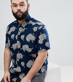 Рубашка классического кроя с принтом ASOS DESIGN Plus - Темно-синий