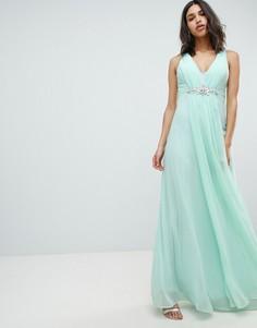 52d9797e2c0 Платье макси с декоративной отделкой City Goddess Wedding - Зеленый