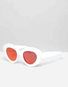 Солнцезащитные очки кошачий глаз House Of Holland - Белый