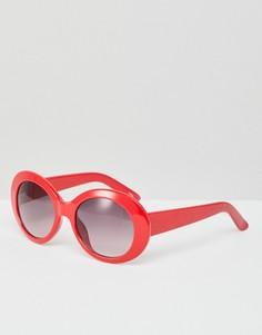 Солнцезащитные очки в стиле ретро Monki - Красный