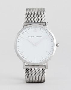 Серебристые часы Larsson & Jennings Lugano - 40 мм - Серебряный
