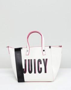 Миниатюрная сумка-тоут с логотипом Juicy Couture - Белый