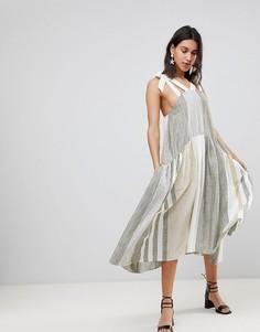 Платье миди Free People - Кремовый