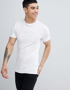 Белая облегающая футболка River Island - Белый