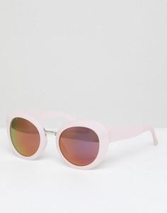 Розовые солнцезащитные очки кошачий глаз в толстой оправе AJ Morgan - Розовый