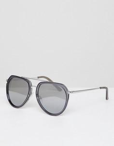 Солнцезащитные очки-авиаторы с планкой над переносицей AJ Morgan - Серый
