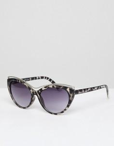 Черепаховые солнцезащитные очки кошачий глаз с градиентными стеклами AJ Morgan - Серый