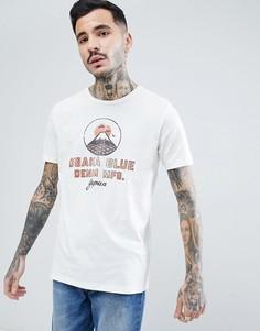 Премиум-футболка с винтажным принтом Jack & Jones - Белый