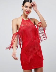 Платье с кисточками AX Paris - Красный