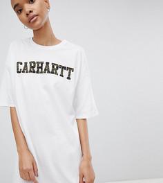 Платье-футболка с камуфляжным логотипом Carhartt WIP - Белый