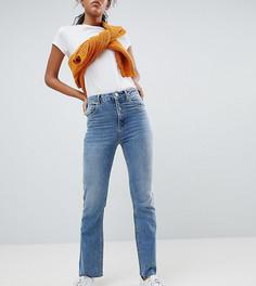 Укороченные расклешенные джинсы с выбеленной отделкой ASOS DESIGN Tall - Синий