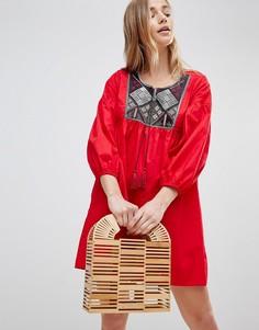 Пляжное платье с вышивкой Influence - Красный