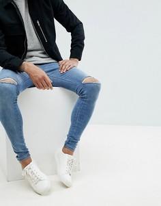 Рваные супероблегающие джинсы Dr Denim Dixy - Синий