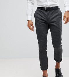 Зауженные брюки с контрастными отворотами Heart & Dagger - Серый