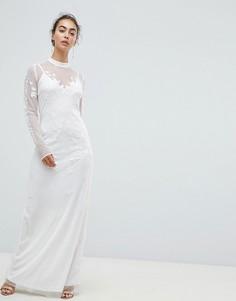 Платье макси с вышивкой Hope & Ivy - Белый