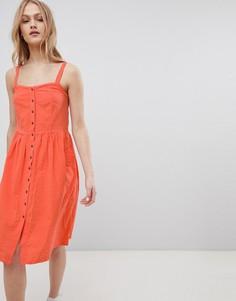 Платье миди на пуговицах Blend She Sersa - Красный