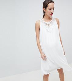 Кружевное платье без рукавов Mamalicous - Белый Mama.Licious