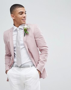 Супероблегающий розовый блейзер ASOS Wedding - Розовый