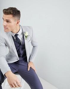 Серый супероблегающий блейзер ASOS Wedding - Серый