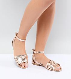 Кожаные туфли для широкой стопы Park Lane - Золотой