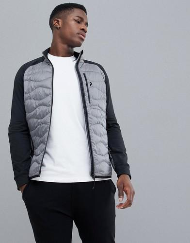 Серая меланжевая куртка Peak Performance Helium Hybrid - Серый