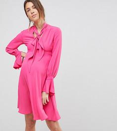 Платье с завязкой на вороте Queen Bee - Розовый