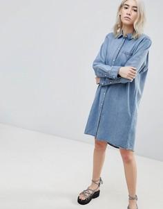 Джинсовое платье-рубашка Cheap Monday - Синий