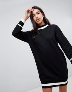 Трикотажное платье колор блок Esprit - Мульти