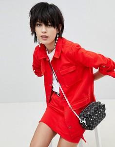 Джинсовая куртка Pieces - Красный