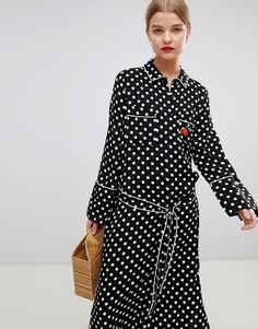 Пижамное платье макси Essentiel Antwerp - Черный