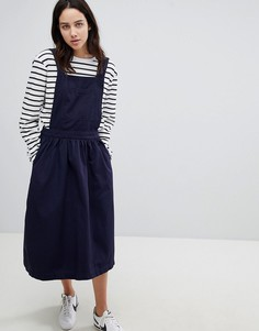 Хлопковое платье Mads Norgaard - Темно-синий