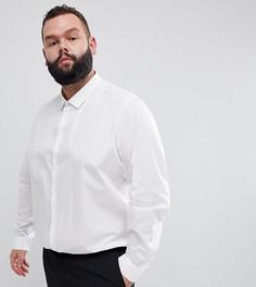Белая эластичная рубашка классического кроя ASOS DESIGN Plus - Белый