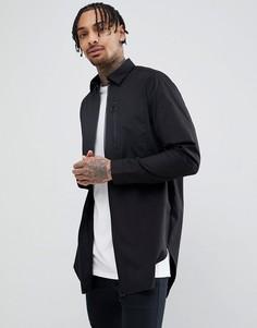 Длинная рубашка с молниями ASOS DESIGN - Черный