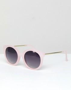 Розовые солнцезащитные очки кошачий глаз Jeepers Peepers - Розовый