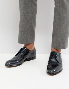 Серые туфли дерби с эффектом металлик Ted Baker Fonntan - Серый