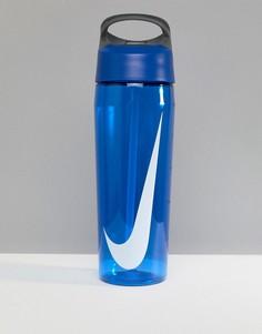 Синяя бутылка для воды с трубочкой Nike Training Hydrocharge N.OB.E3.445.24 - 680 мл - Синий