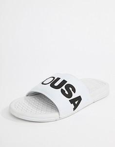 Белые шлепанцы DC Shoes Bolsa - Белый
