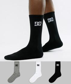 3 пары носков с логотипом DC Shoes - Мульти