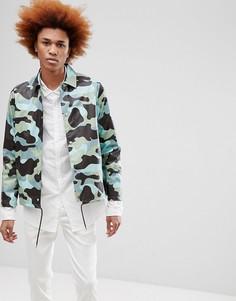Спортивная куртка с камуфляжным принтом Rains 1217 - Зеленый