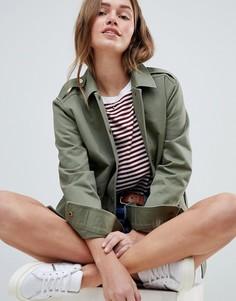 Легкая куртка в стиле милитари Jack Wills - Зеленый