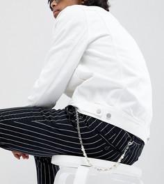 Серебристая цепочка с черепами на джинсы DesignB эксклюзивно для ASOS - Серебряный