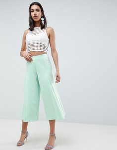 Укороченные широкие брюки ASOS DESIGN - Зеленый