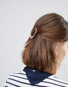 Заколка для волос с дизайном в виде полумесяца Orelia - Золотой