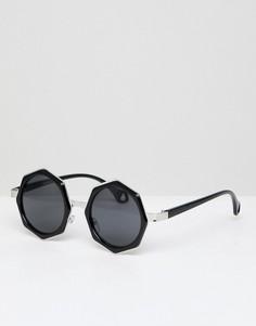 Восьмигранные солнцезащитные очки AJ Morgan - Черный