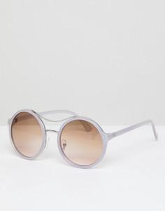 Круглые солнцезащитные очки с планкой сверху AJ Morgan - Фиолетовый