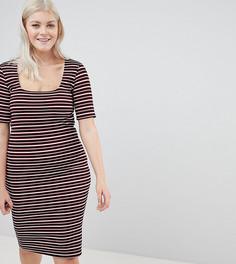 Облегающее платье в полоску New Look Curve - Мульти