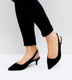 Туфли на каблуке-рюмочке для широкой стопы ASOS SPIRIT - Черный