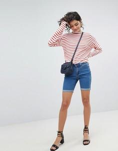 Длинные джинсовые шорты Vero Moda - Синий